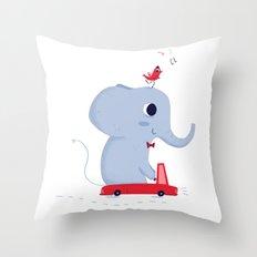 Driving Throw Pillow