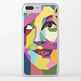 Drew Berrymore WPAP Clear iPhone Case