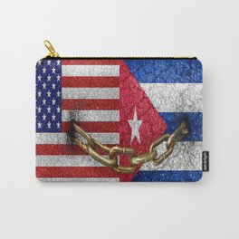 United States and Cuba Flags United Carry-All Pouch