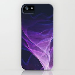 Out of the Blue - Pink, Blue and Ultra Violet iPhone Case