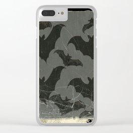 ANTIQUE  SHABBY CHIC  BATS ART DESIGN Clear iPhone Case