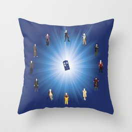 Time Lords Throw Pillow