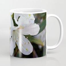 Beautiful white azalea flower photography. Mug