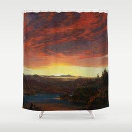 Twilight, A Sketch Landscape by Frederic Edwin Church Shower Curtain