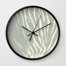 Tiger print Light Grey Wall Clock