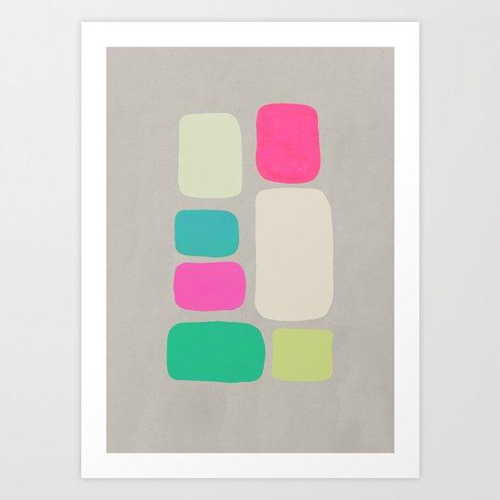 colour + pattern 2 Art Print