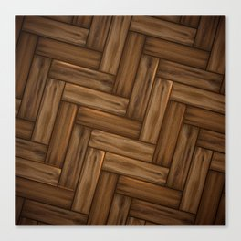 Wood Stitch Pattern Canvas Print