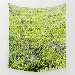 Texas Bluebonnet Field Wall Tapestry
