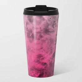 Liquid Space Nebula : Gray to Pink Ombre Gradient Metal Travel Mug