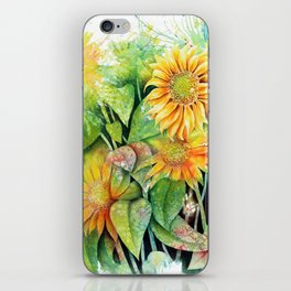 Colorful Sunflowers iPhone Skin