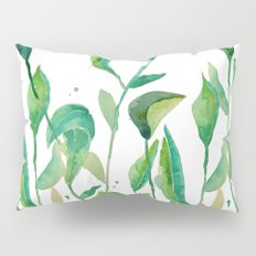 green watercolor garden Pillow Sham