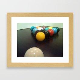 Poolhallway Framed Art Print