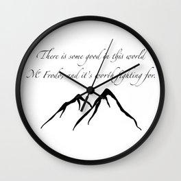 Sam quote Wall Clock