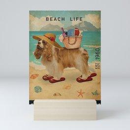 Beach Life Sandy Toes American Cocker Spaniel Mini Art Print