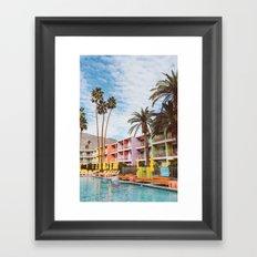 Palm Springs Pool Day VII Framed Art Print