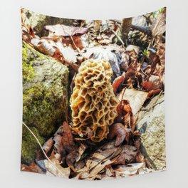 Morel Mushroom in the Wild Wall Tapestry