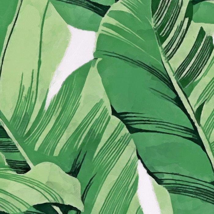 Tropical banana leaves V Leggings