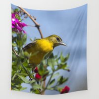 baltimore Wall Tapestries featuring Baltimore Oriole by Christina Rollo