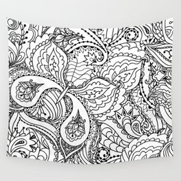 Black white hand painted watercolor butterfly abstract floral Wall Tapestry