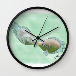 Fish Kisses Wall Clock