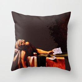 The Death of Marrat Throw Pillow