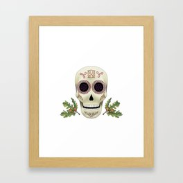 Knotwork Skull Framed Art Print