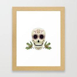 Knotwork Skull Framed Art Print