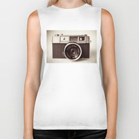 carpe Biker Tanks featuring Camera by Tuky Waingan