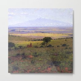 Athi Plains, Mount Kenya, Kenya, Africa Landscape by William R. Leigh Metal Print