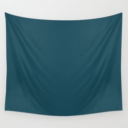 Christmas Winter Night Blue Wall Tapestry
