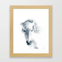 Cute Ponyface Framed Art Print