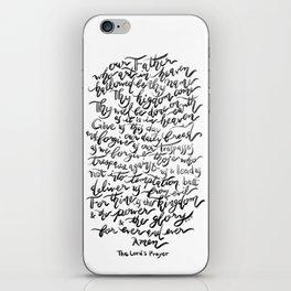 The Lord's Prayer - BW iPhone Skin