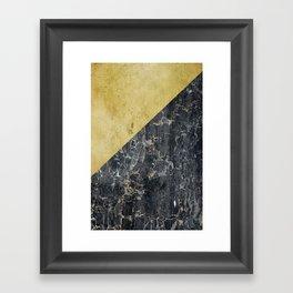 gOld slide Framed Art Print