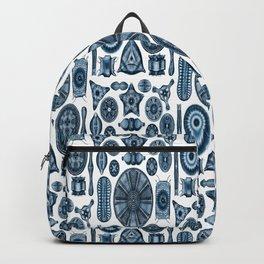 Ernst Haeckel Diatomea Diatoms in Navy Blue Backpack