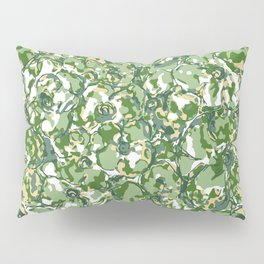 Flower Camuflage green Abstract Pillow Sham
