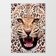Albino leopard iPhone 4 4s 5 5c 6, pillow case, mugs and tshirt Canvas Print