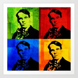 W. B. YEATS - 4-UP POP ART COLLAGE Art Print