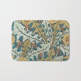 Art Nouveau Dandelion Pattern Bath Mat