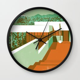 Los Angeles Heat Wall Clock