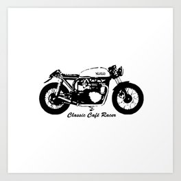 HAPPY BIKING TO ALL CLASSIC CAFE RACER BIKERS,GIFT WRAPPED FOR  2021 Art Print