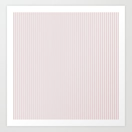 Bridal Rose Stripes Art Print