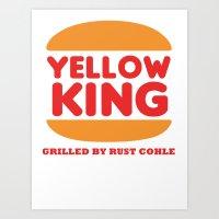 True Detective Yellow King Logo Rust 2 Art Print