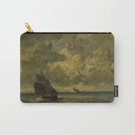 12,000pixel-500dpi - Jules Louis Dupre - Two Boats in a Storm - Digital Remastered Edition Carry-All Pouch