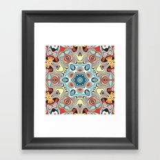 Textural Kaleidoscope Abstract Framed Art Print