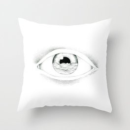 I see the sea Throw Pillow