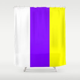 flag of canary islands 2b -canaries,canary,atlantic,canarias,Canarian,canario,canaria,spain,spanish, Shower Curtain