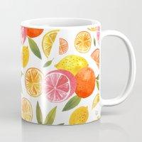 oana befort Mugs featuring CITRUS by Oana Befort