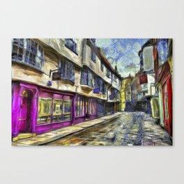 The Shambles York Van Gogh Canvas Print