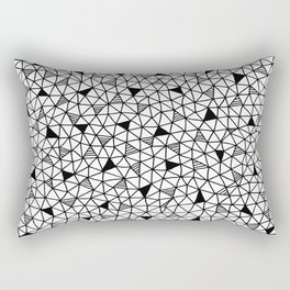 abstract triangle pattern Rectangular Pillow