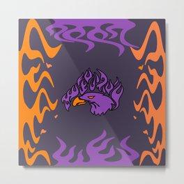 purple eagle Metal Print